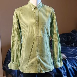 RED FLEECE by Brooks Brothers Striped Sport Shirt